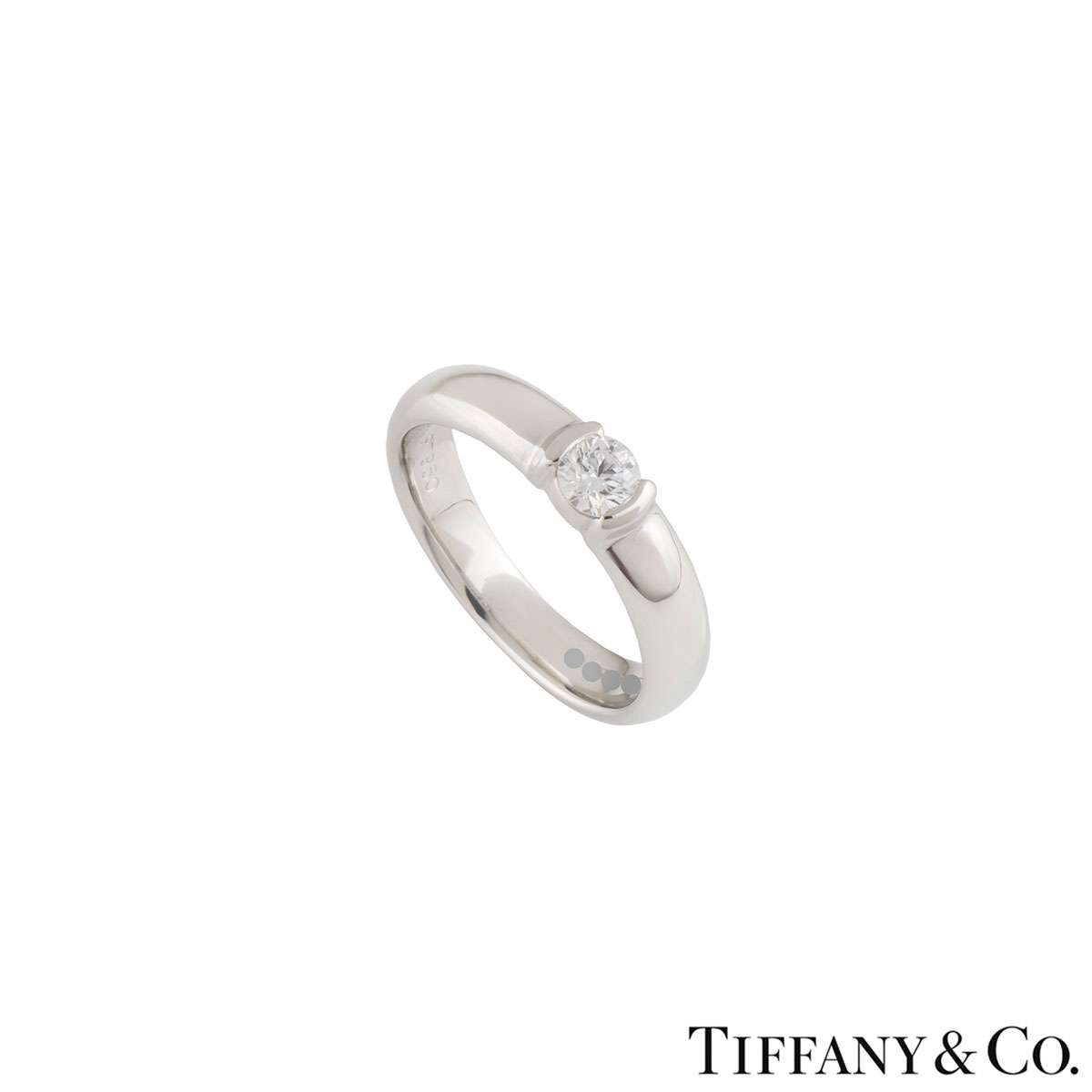 Tiffany & Co. Diamond Platinum Etoile Ring 0.23ct G/VS